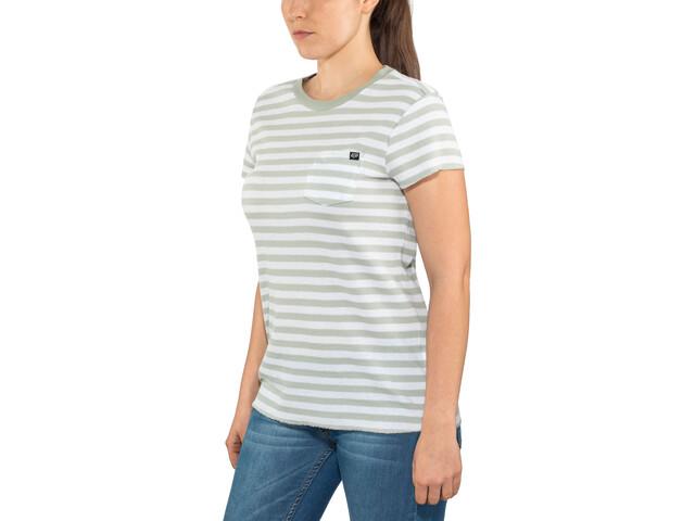 Fox Striped Out Crew Shirt korte mouwen Dames, white